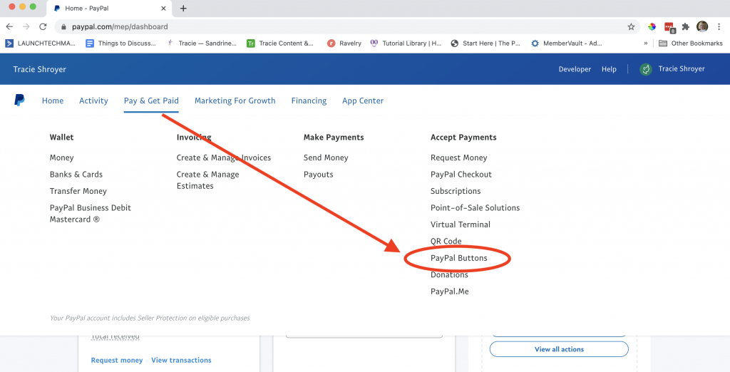 Integrate Leadpages with PayPal Create a Button