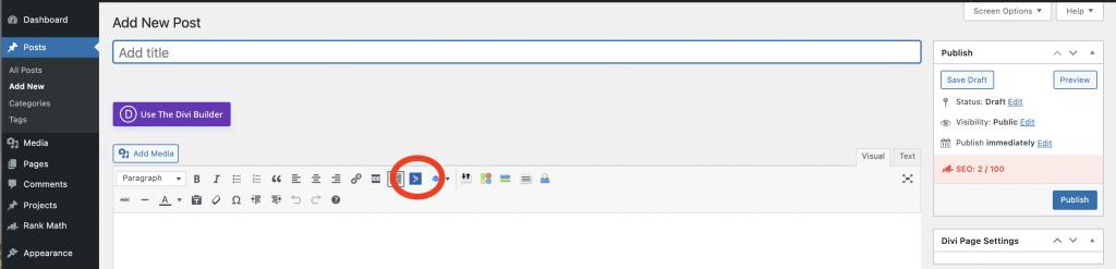 ActiveCampaign Wordpress integration button