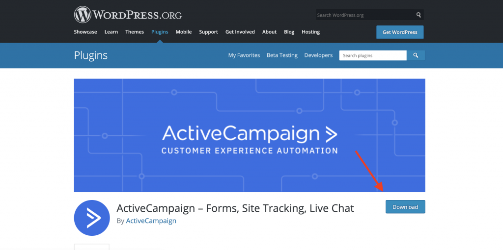 ActiveCampaign WordPress plug in Download
