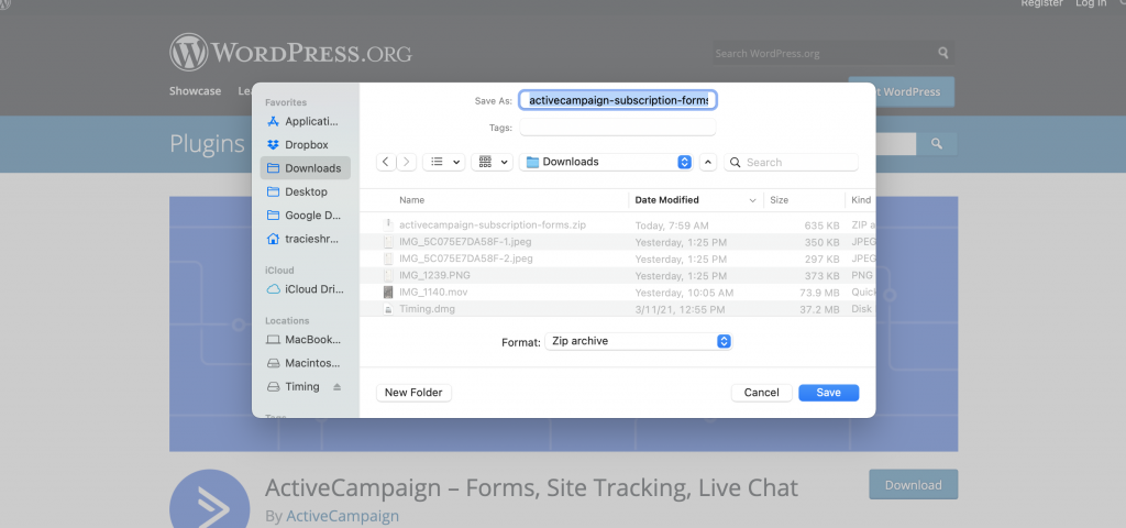Download ActiveCampaign Plugin