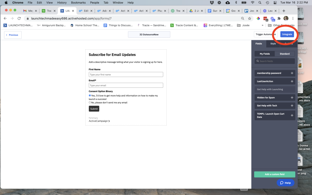 Integrate ActiveCampaign form with WordPress