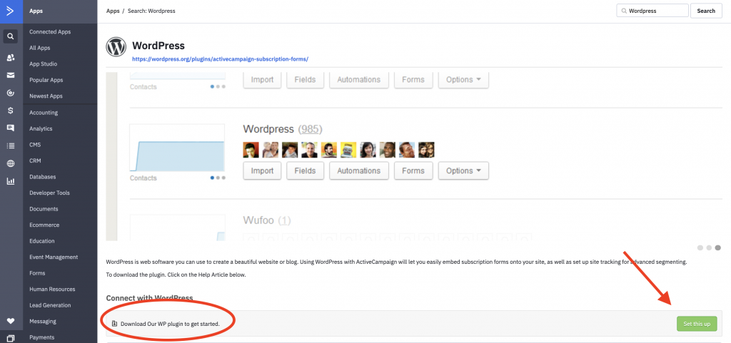 Wordpress Plugin ActiveCampaign