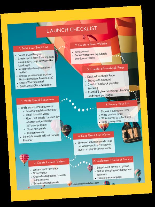 online launch checklist