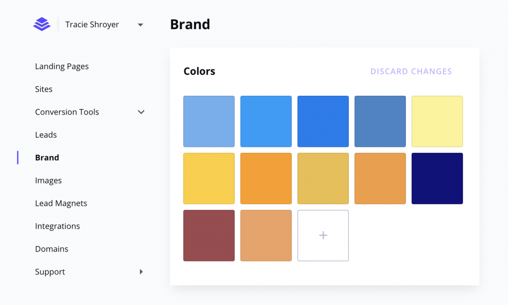 Add Brand colors to Leadpages